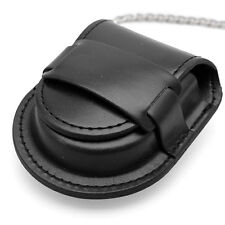 Black Leather Chain Pocket Watch Holder Storage Case Box Coin Purse Pouch Bag