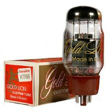 Factory Matched Quad Genalex Gold Lion KT66 Vacuum Tubes Reissue, NEW