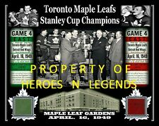 TEEDER TORONTO MAPLE LEAFS APR 1949 STANLEY CUP  PHOTO MAPLE LEAF GARDENS SEAT