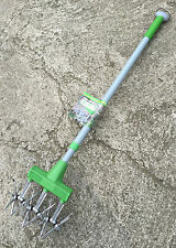 Freund Victoria Roll Cultivator - Telescopic Aluminium Handle - Lawn Aerator