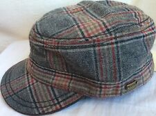 STETSON VIRGIN WOOL BLEND XL 61cm 7 5/8 CADET/MILITARY HAT GRAY RED BLACK BROWN