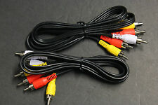 """2 PCS 3 FT 4 IN Composite AV 3-RCA AUDIO/VIDEO CABLE MALE RED YELLOW WHITE 40"""""""