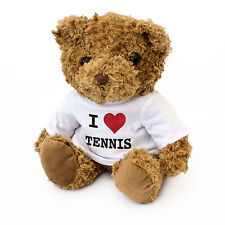 NEW - I LOVE TENNIS Teddy Bear - Xmas Birthday Fan Gift Present