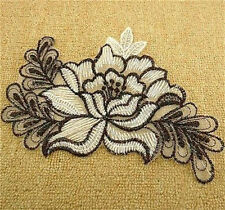 FD3614 Elegant Flower Flora DIY Lace Patch Embroidery Cloth Decor Sewing Patch ♫