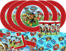Paw Patrol Party Tableware Pack For 16 Kids Birthday Decorations Boys Party Fun