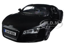 AUDI R8 MATT BLACK 1:24 DIECAST MODEL CAR BY MAISTO 31281