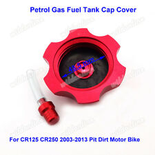 Petrol Gas Fuel Tank Cap Cover Red For CR125 CR250 2003-2013 Pit Dirt Motor Bike