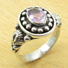 AMETHYST HANDWORK Ring Size US 7 ! Silver Plated GEMSTONE Jewelry ONLINE STORE