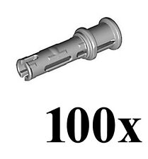 LEGO Technic 100 pcs LIGHT GREY PIN LONG 3L Friction Ridges Stop Bush Part 32054