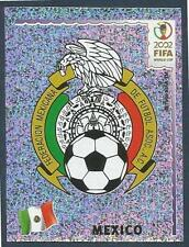 PANINI KOREA/JAPAN WORLD CUP 2002- #494-MEXICO TEAM BADGE-SILVER FOIL