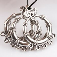 25pcs Hotsale Silver Tone Circle Dots Alloy Connector Pendants Charms Findings J