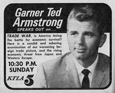 Tv Ad~GARNER TED ARMSTRONG~EVANGELIST~MINISTER~WORLD TOMORROW~CHURCH~RELIGION