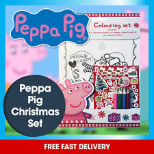 Peppa Pig Christmas Colouring Set - NEW 2016
