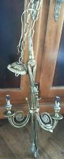 VINTAGE FRENCH LOUIS XV BRASS OR BRONZE CHANDELIER FROM FRANCE BEAUTIFUL!