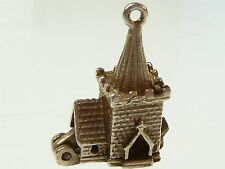 Vintage 925 Sterling Silver Charm CHURCH OPENS TO WEDDING 2.6g a492