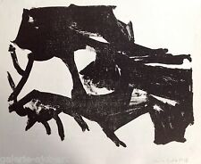 Christa PYROTH Lithographie de 1963 Signée crayon Abstraction 27x38cm Abstract 2