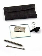 SNORTER SNIFFER SNUFF TUBE POWDER DISPENSER SUEDE KIT POUCH,FREE P&P