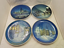 Rosenthal Germany Weihnachten Germany 4 Handpainted Christmas Plates 1970-1973