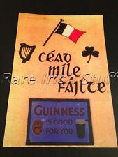 Cead Mile Failte Irish/Gaelic Welcome Guinness Print- Irish Pub Bar Home Poster