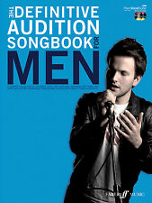 Definitive Audition Song For Men Piano Voice Guitar SONGS FABER Music BOOK & CD