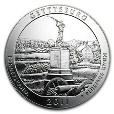 2011 Gettysburg 5 oz Silver America The Beautiful ATB Coin in Capsule