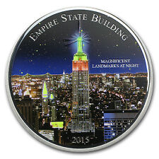 2015 Cameroon 2 oz Silver Magnificent Landmarks - Empire State - SKU #90377