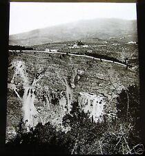 ROSCH Glass Magic lantern slide VIEW OF THE APENNINES NEAR FLORENCE C1900 ITALY