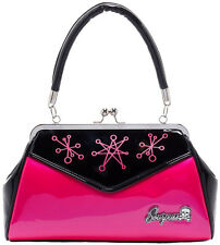 Sourpuss SPUTNIK Backseat Baby Lack Pin Up Kisslock Bag TASCHE Rockabilly