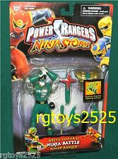 Power Rangers Ninja Storm 6 in Green Samurai Ninja Battle Power Ranger New 2003