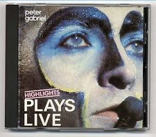 Peter Gabriel CD Plays Live Highlights WEST GERMANY-FOR-UK lightblue face