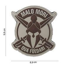 3D PVC 101 inkl. Malo Mori Spartan Militär Armee Taktische Moral Aufnäher Wüste
