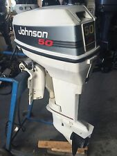 "1992 Johnson Evinrude 50 hp Carbureted 20"" Outboard Boat Motor Engine 30 40 60"
