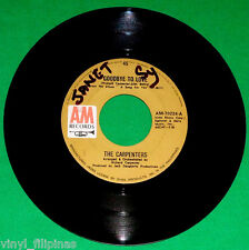 "PHILIPPINES:CARPENTERS - Goodbye To Love,I Won't Last A Day ,7"" 45 RPM,RARE"