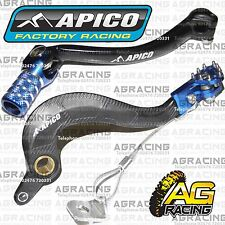 Apico Black Blue Rear Brake & Gear Pedal Lever For Yamaha WR 450F 2013 Motocross