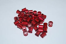 10pcs Red aluminum pigeon rings, leg bands for pigeons US Seller
