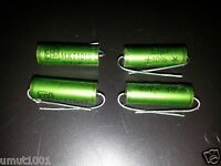 4x NOS ERO GREEN MKT 1813 3.3UF 63V HI-END TUBE AUDIO CAPACITORS !