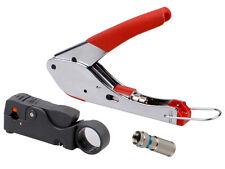 Universal Compression Tool Stripper F RCA BNC RG6 Connector Cable Coax Crimper