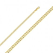 """EJCM35104/050 - Solid 14K Yellow Gold 2.2mm Curb Link Chain 24"""""""