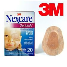 Genuine 3M Nexcare Opticlude Orthoptic Eye Patches Junior Size - 1 Pack 20 Count