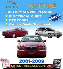 Jaguar X-Type 2001-2009 FACTORY REPAIR SERVICE MANUAL WORKSHOP +ELECTRICAL GUIDE