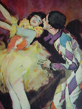 Colombine Columbine Et Son Amant Ballerina Harlequin G Briault 1927 Page Print
