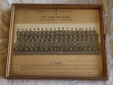 Small Arms Infantry PW Course 167 NCOs Military Regiment Photo British UK Framed