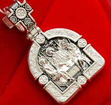 ORTHODOX RUSSIAN 925 STERLING SILVER PENDANT - HOLY TRINITY. RUSSIAN JEWELRY
