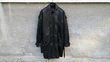 Versus by Gianni Versace V2 Vintage Black Leather Men Coat Jacket size 46 L / XL