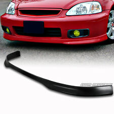 Polyurethane PU TR Style Front Bumper Lip Wing For 99-00 Honda Civic DX EX GX LX