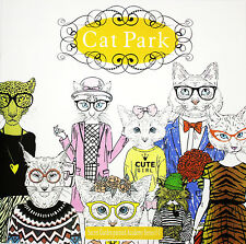 English Young Adult Secret Garden Cat Park Graffiti Coloring Painting Book Gifts
