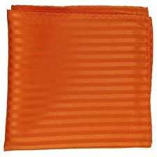 New Men's Polyester Woven pocket square hankie only mocca tone on tone stripes