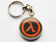 HALF LIFE Classic Video Game Quality Chrome Keyring Picture on Both Sides!
