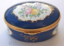 Staffordshire Enamels Georgian Flower Panels Enamel Box