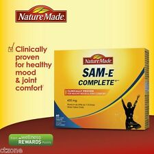 60 Nature Made SAM-e 400 mg Complete Healthy SAMe Sam e Mood Plus  60 Tablets
